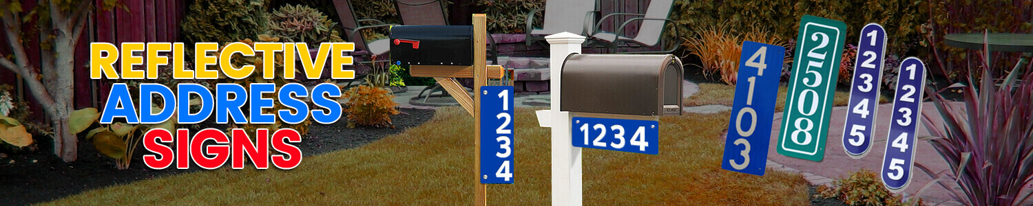 Reflective-Address-Signs