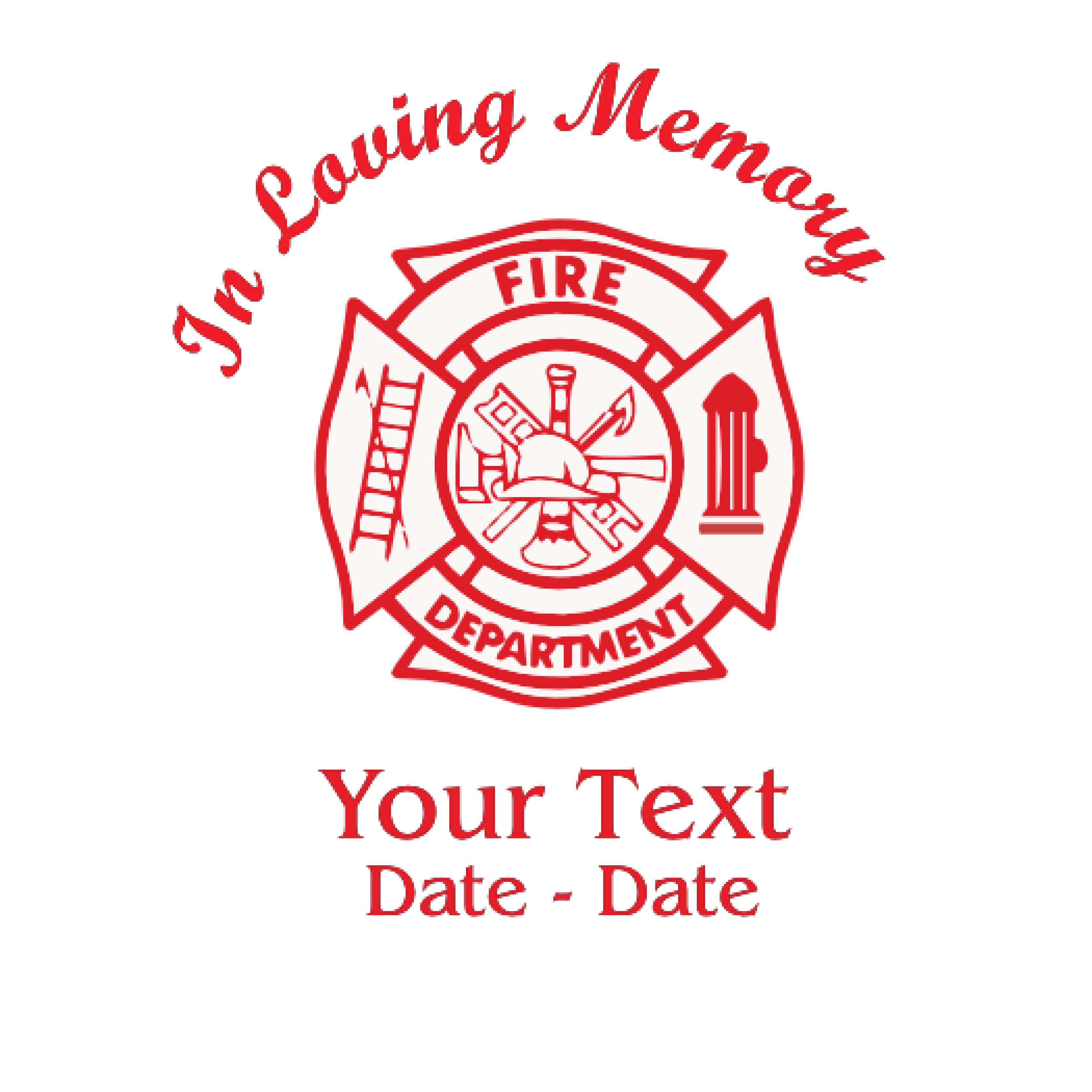 In Loving Memory Firefighter Decal
