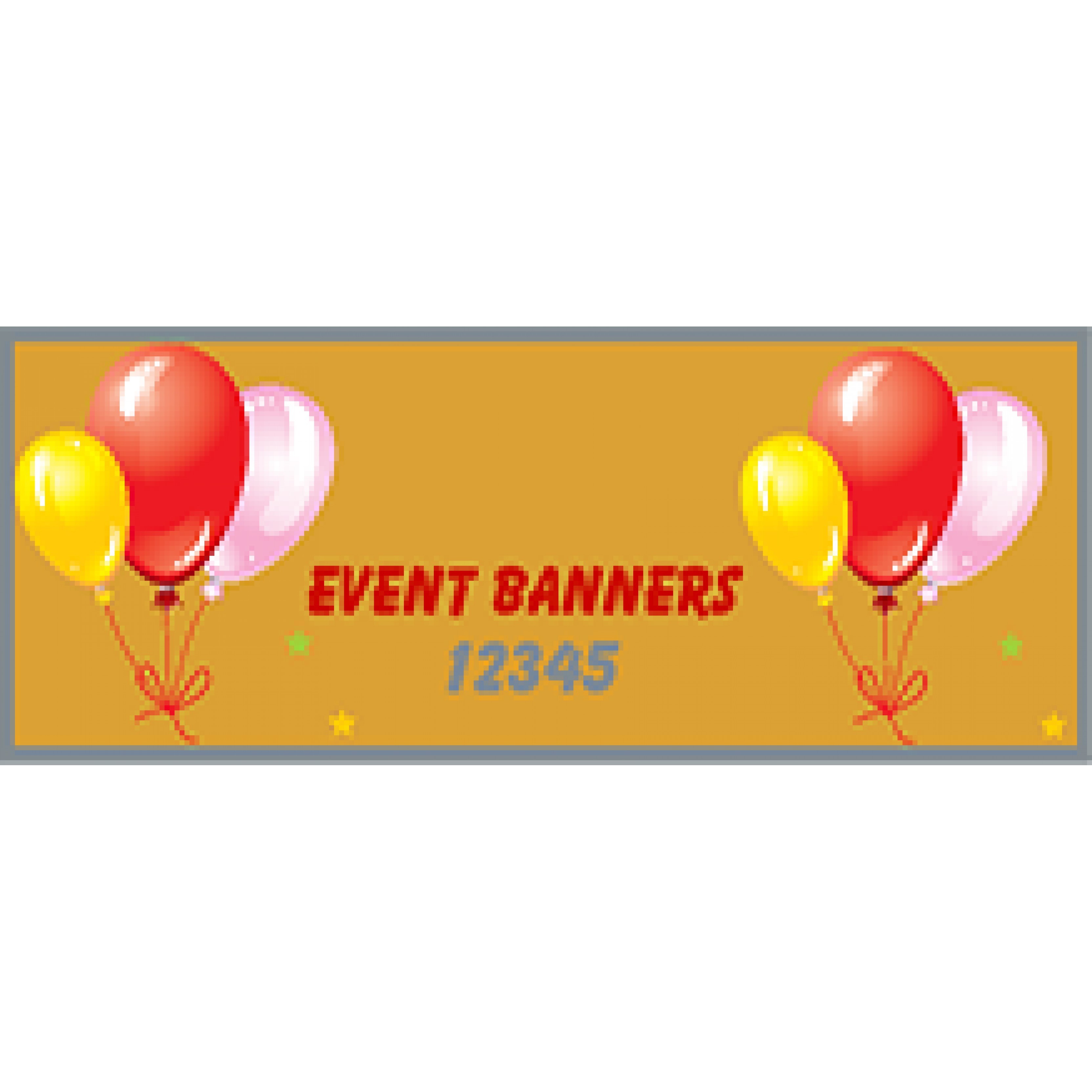 Event Banner 48x144 inches