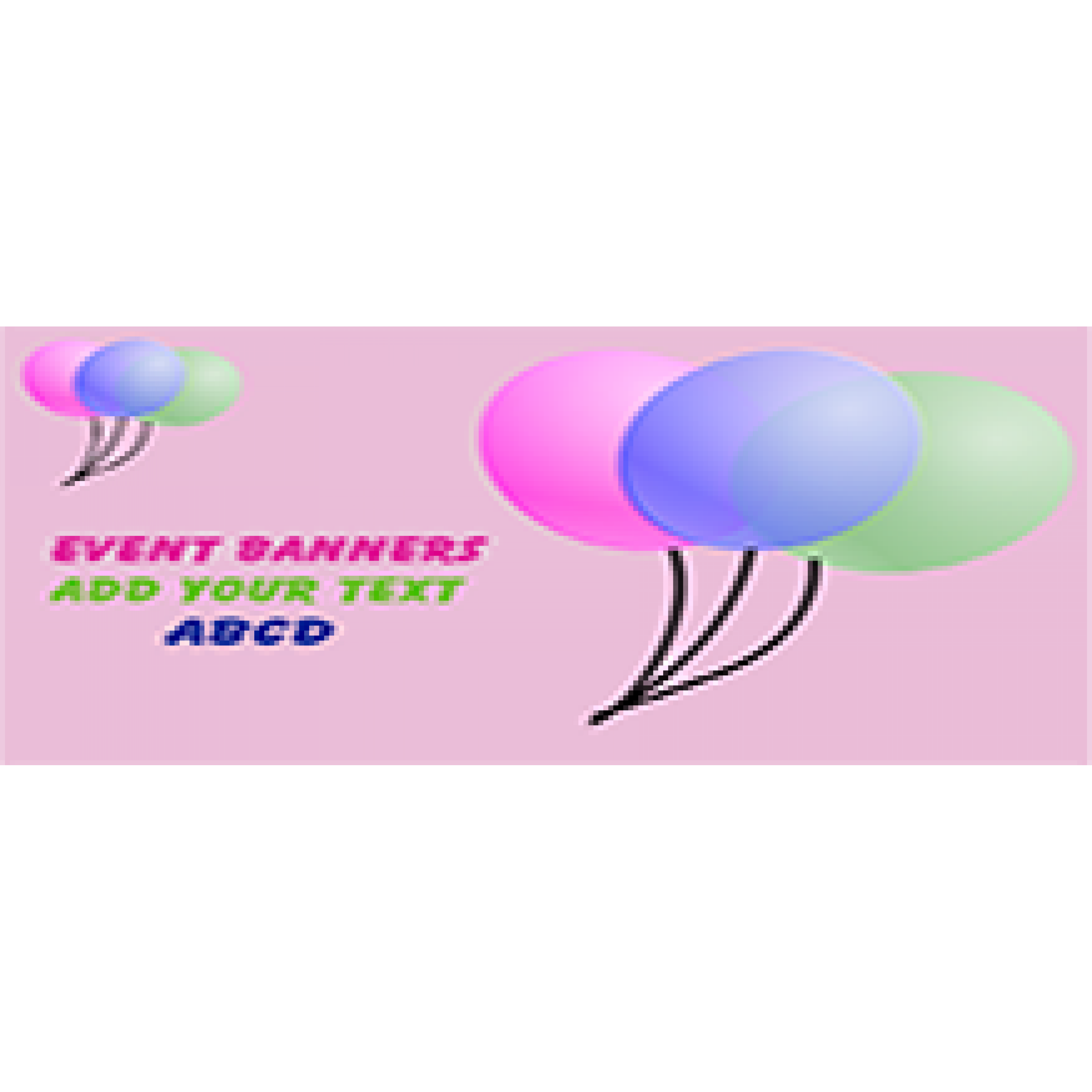 Event Banner 48x72 inches