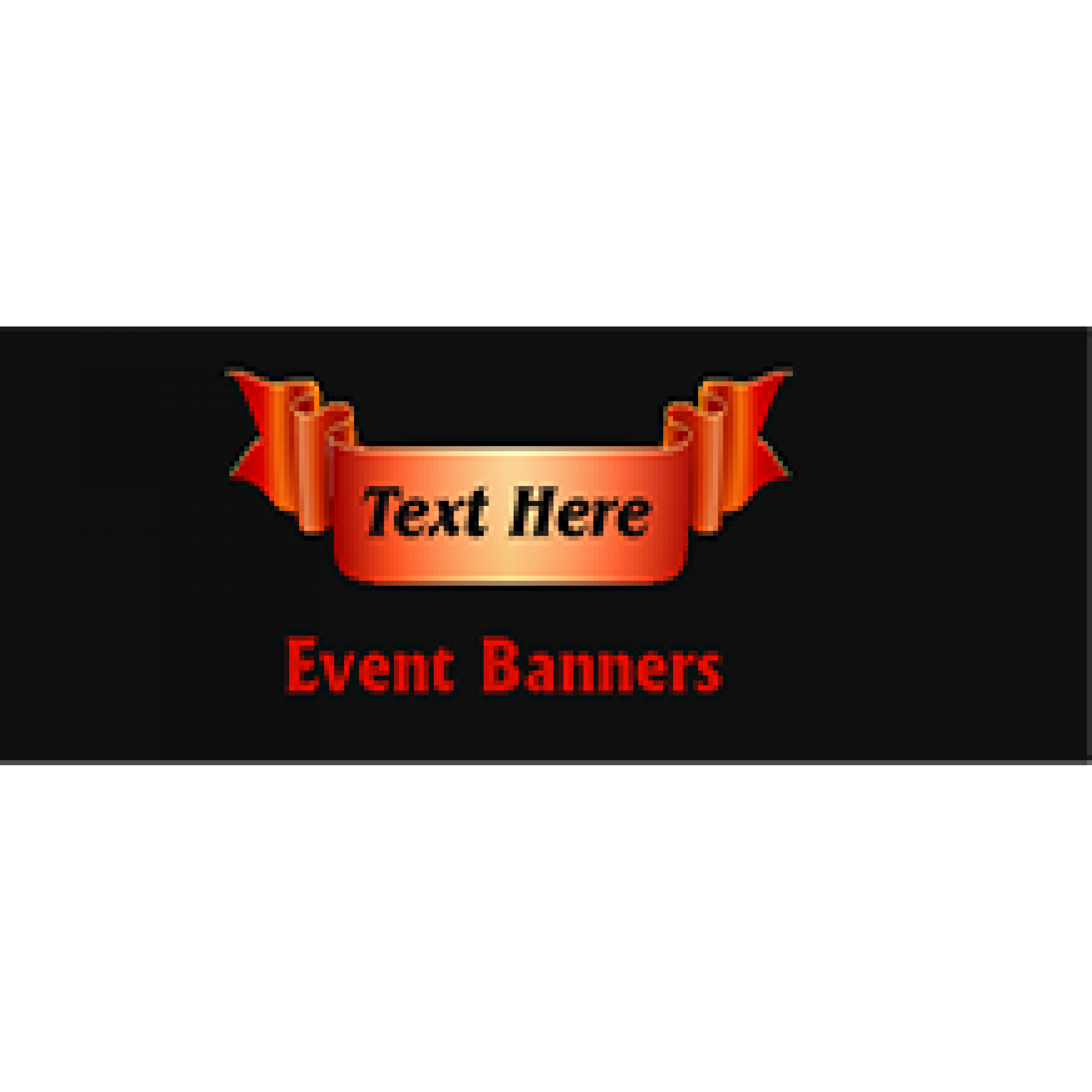 Event Banner 24x72 inches