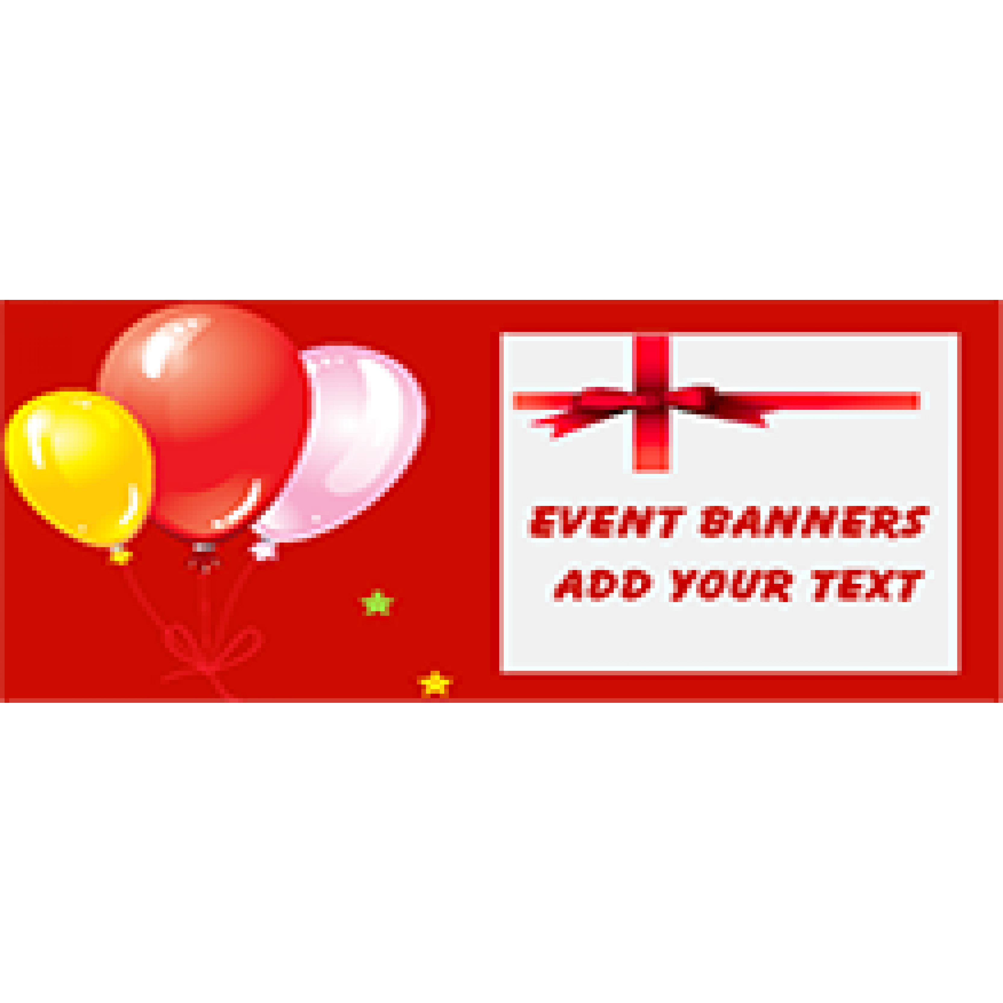 Event Banner 36x72 inches