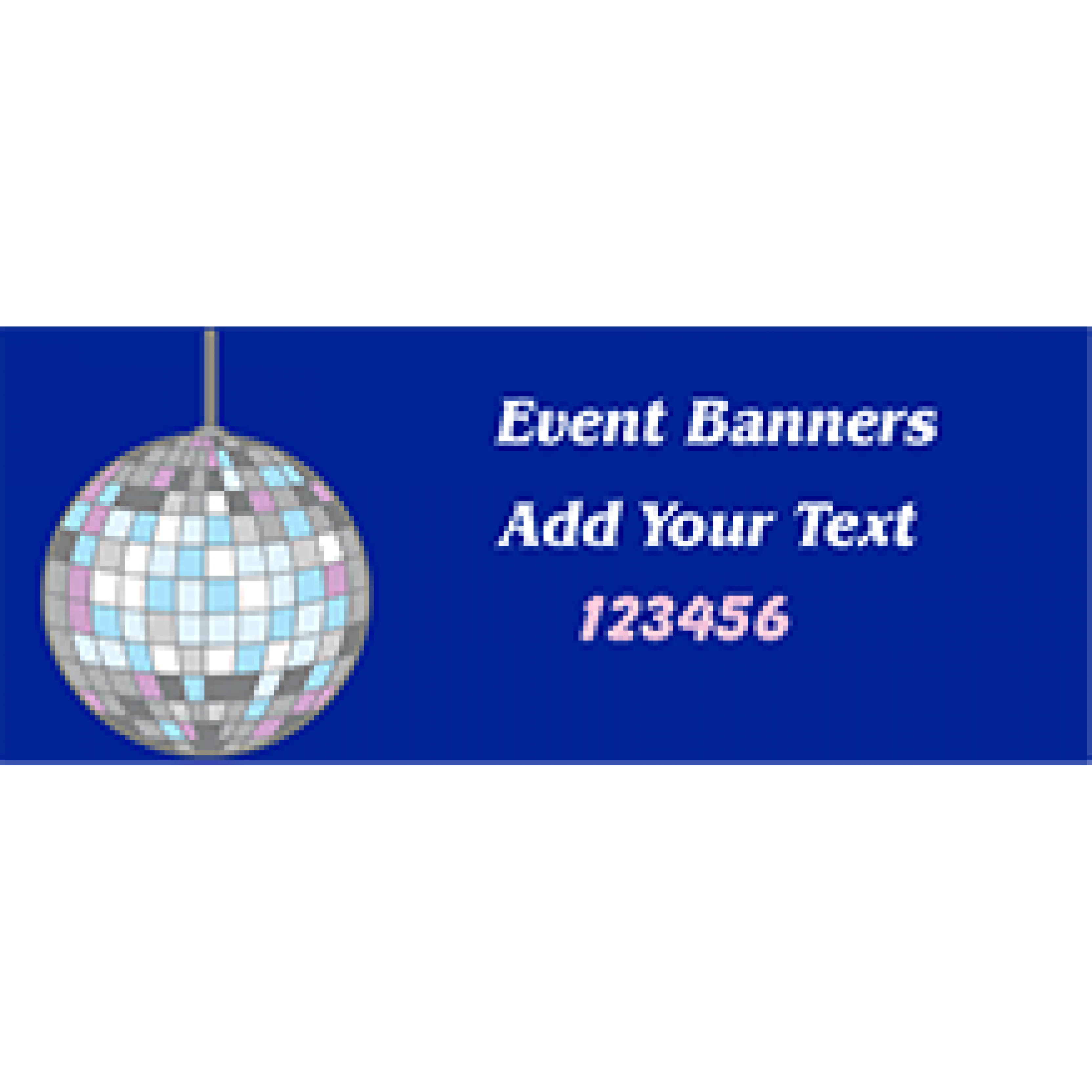 Event Banner 36x96 inches
