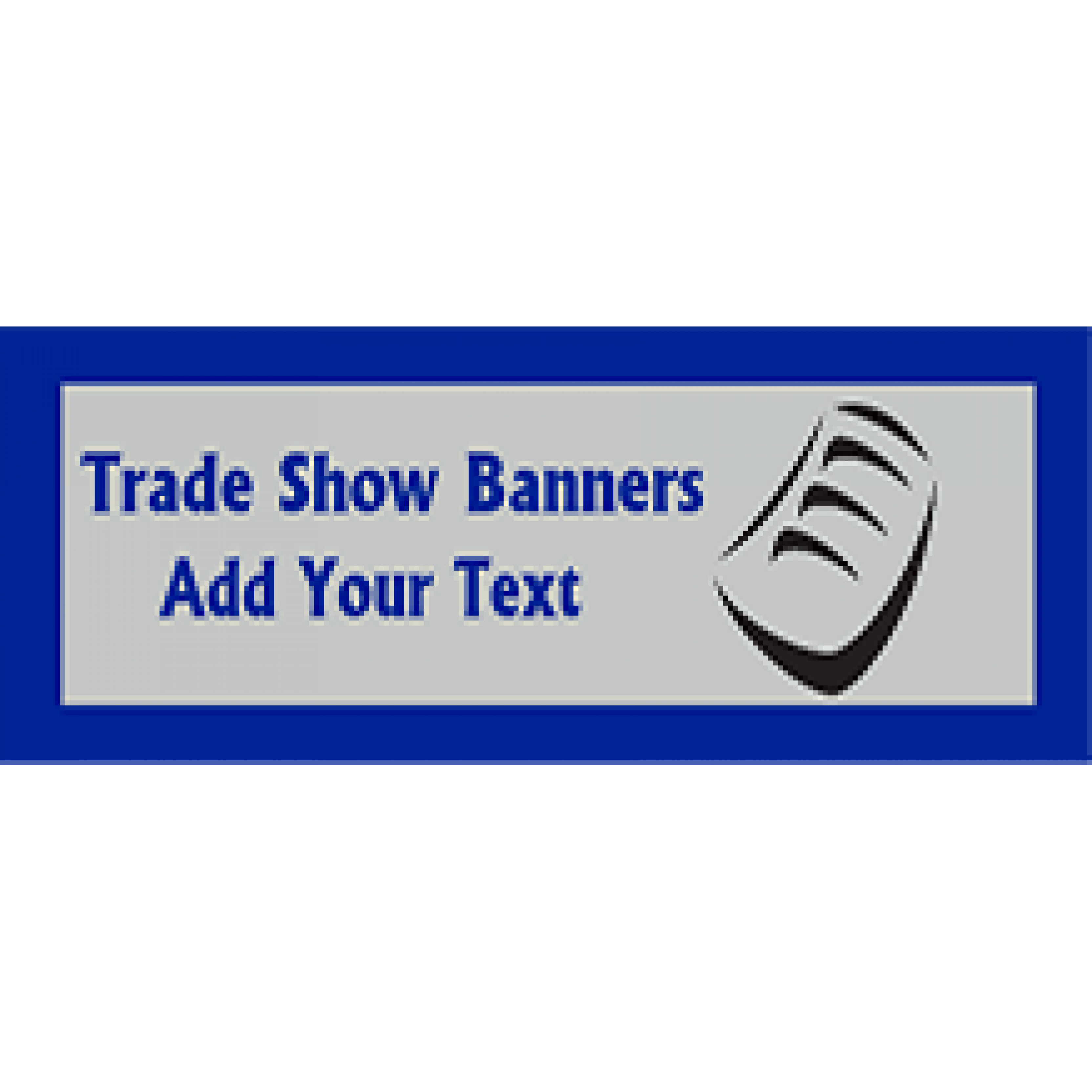 Trade Show Banner 36x120 inches