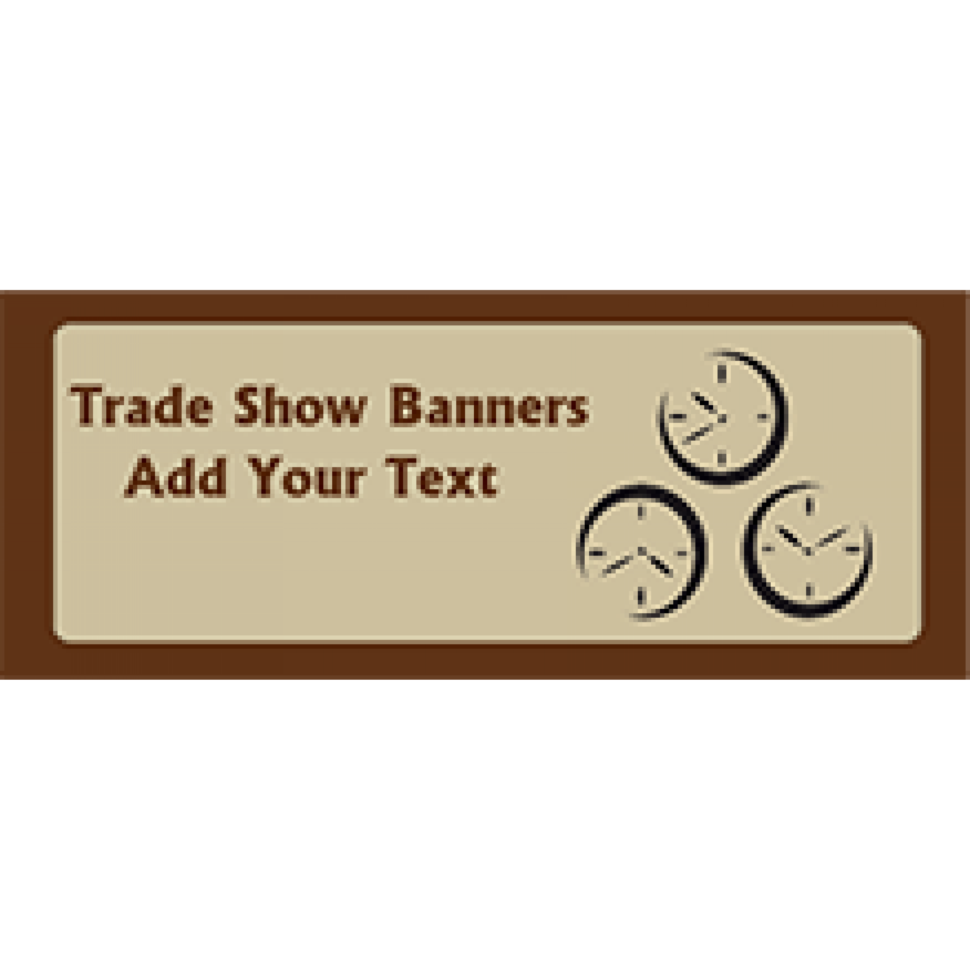 Trade Show Banner 48x120 inches