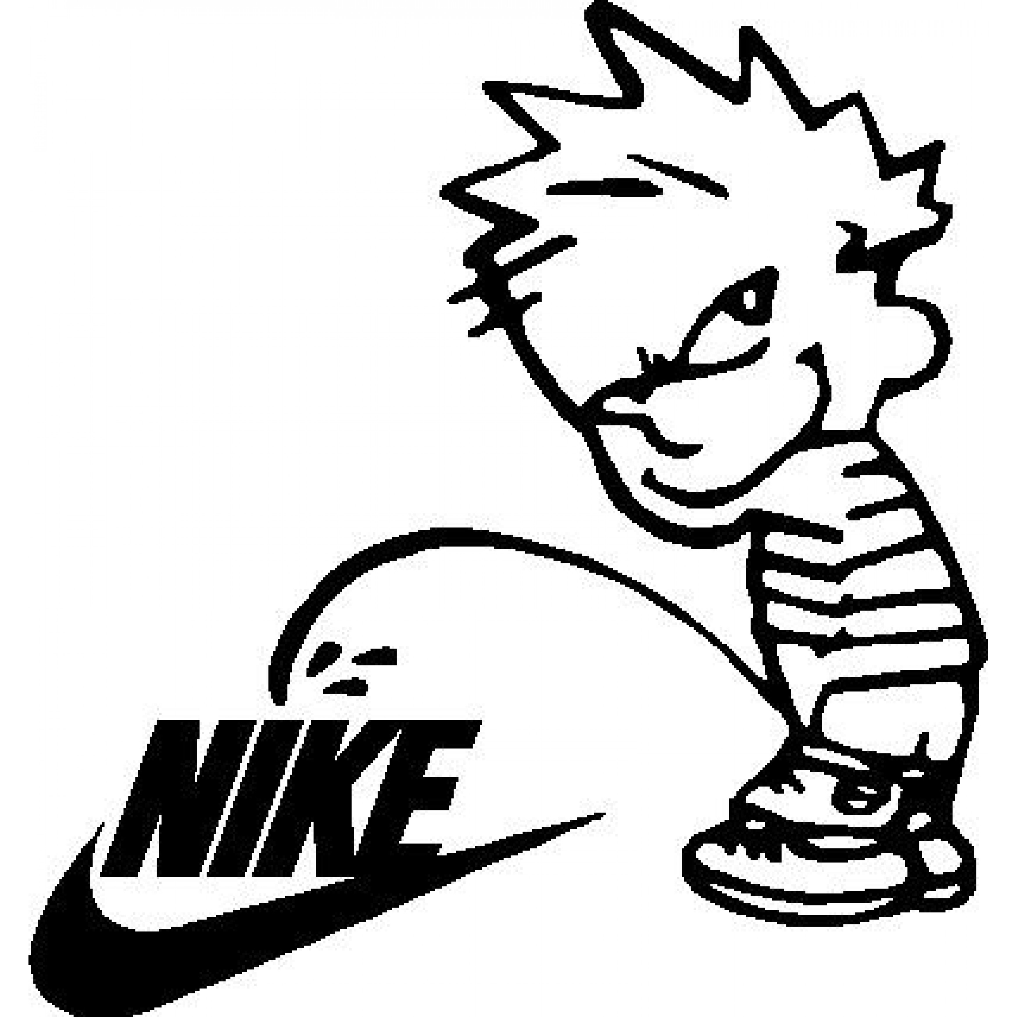 on decals piss Calvin