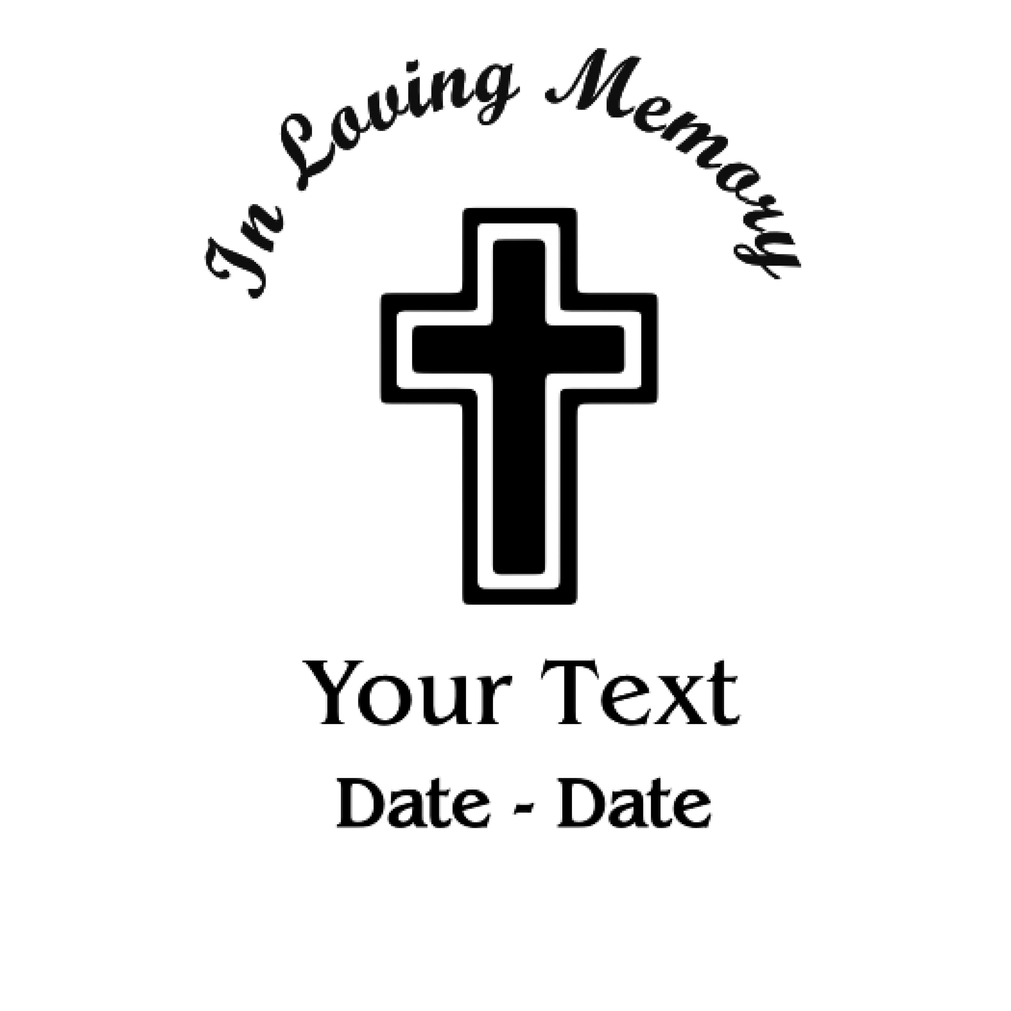 In Loving Memory Cross Decal