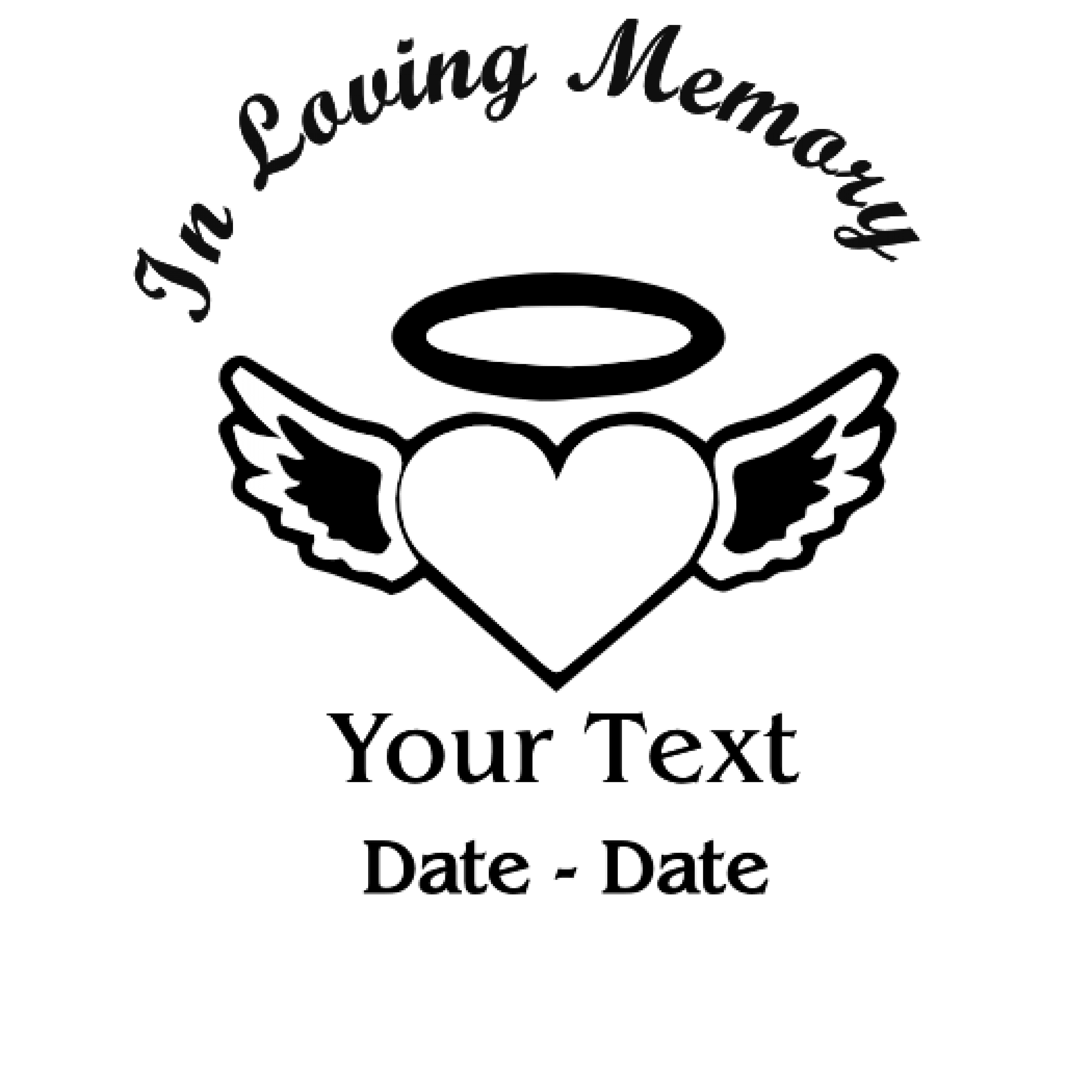 In Loving Memory H&W Decal