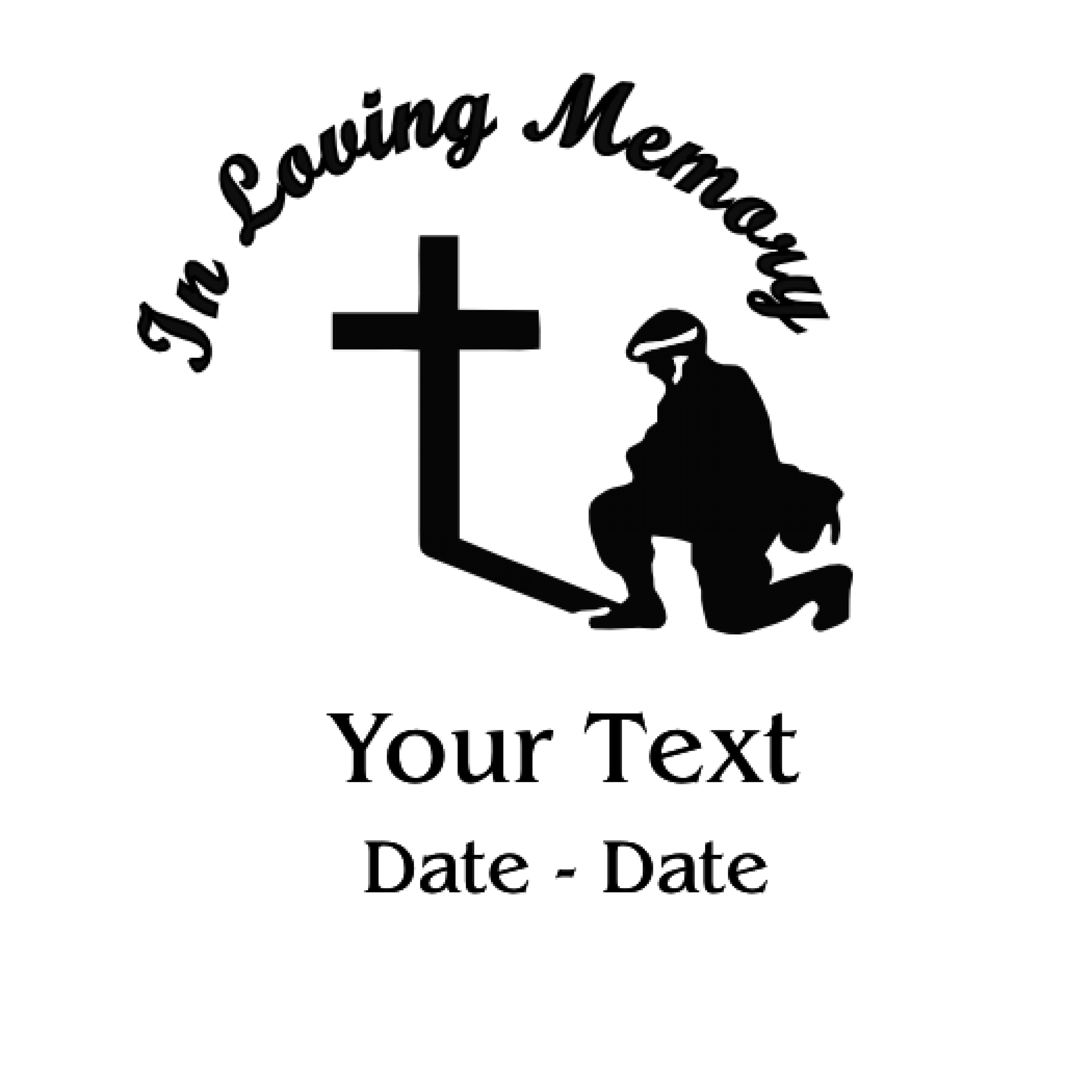 In Loving Memory Army Pray Decal