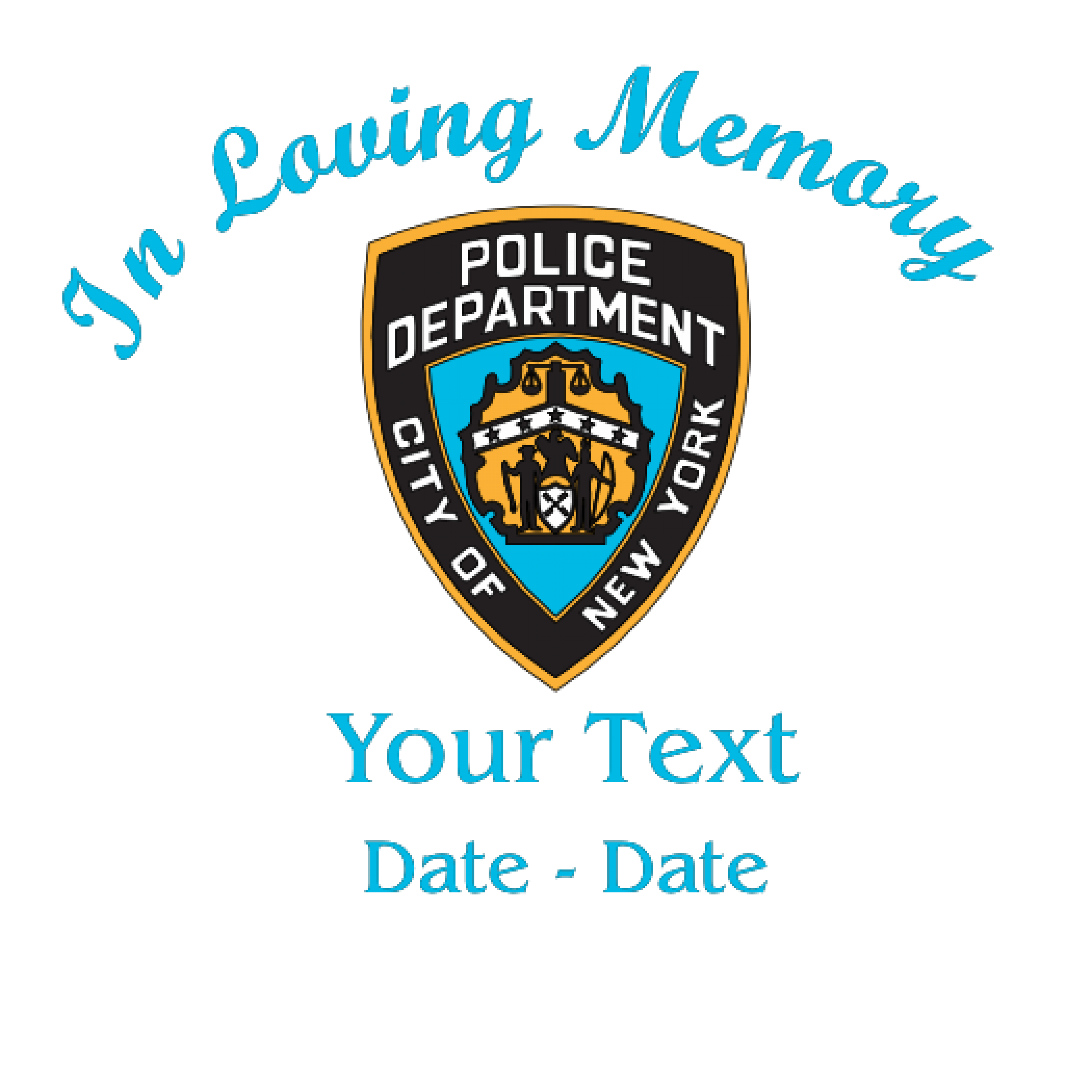 In Loving Memory NY Police Decal