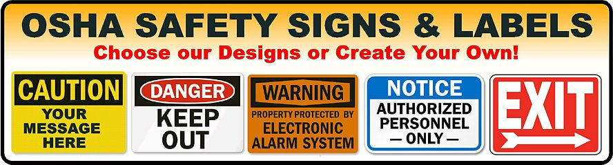 Safety Signs Labels