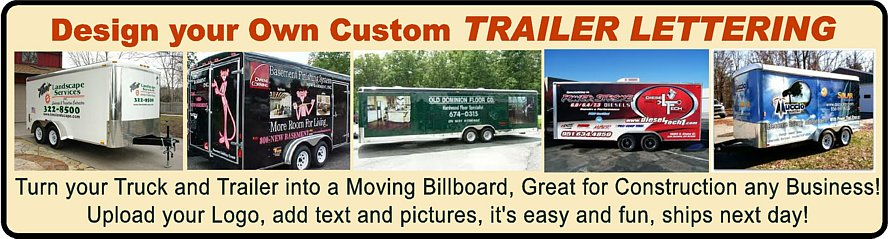 Trailer Lettering Stickers